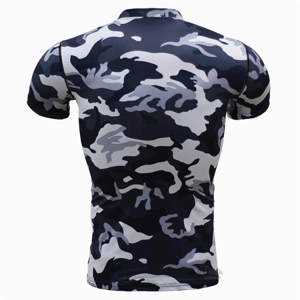 レーシングシャツ フィットネスウェア メンズ Tシャツ 半袖 コンプレッションウェア トップス 加圧シャツ アンダーシャツ トレーニング 吸汗速乾|otasukemann|20