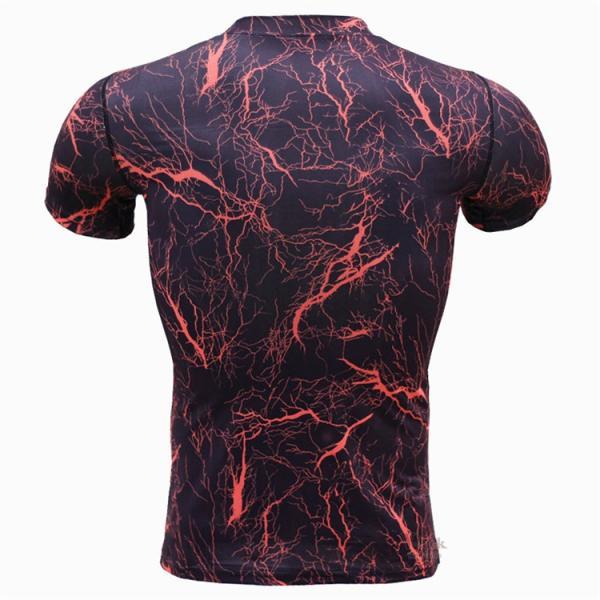 レーシングシャツ フィットネスウェア メンズ Tシャツ 半袖 コンプレッションウェア トップス 加圧シャツ アンダーシャツ トレーニング 吸汗速乾|otasukemann|06