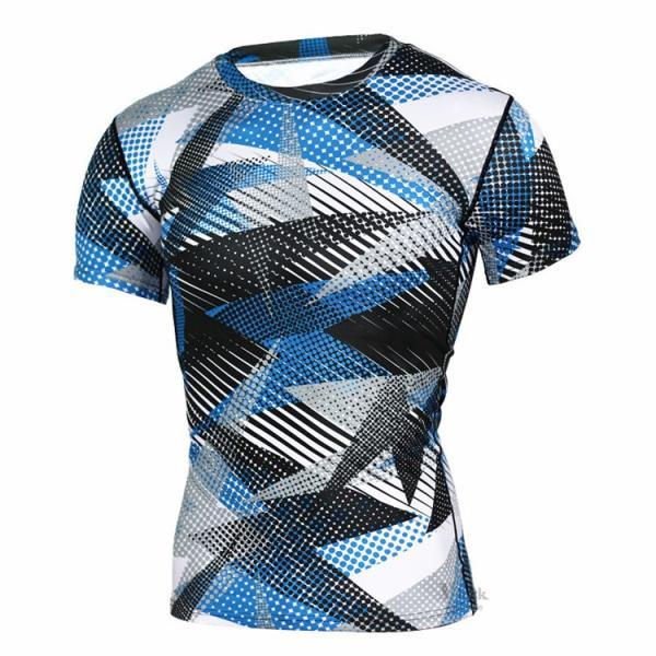 レーシングシャツ フィットネスウェア メンズ Tシャツ 半袖 コンプレッションウェア トップス 加圧シャツ アンダーシャツ トレーニング 吸汗速乾|otasukemann|07