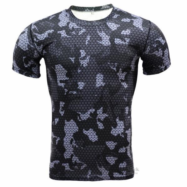 レーシングシャツ フィットネスウェア メンズ Tシャツ 半袖 コンプレッションウェア トップス 加圧シャツ アンダーシャツ トレーニング 吸汗速乾|otasukemann|09