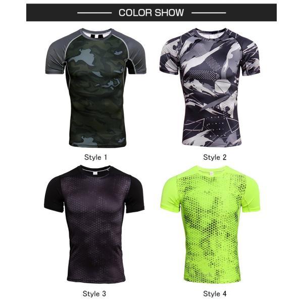コンプレッションウェア メンズ アンダーシャツ 加圧シャツ 半袖 フィットネスウェア Tシャツ トレーニング レーシングシャツ 吸汗速乾 otasukemann 02
