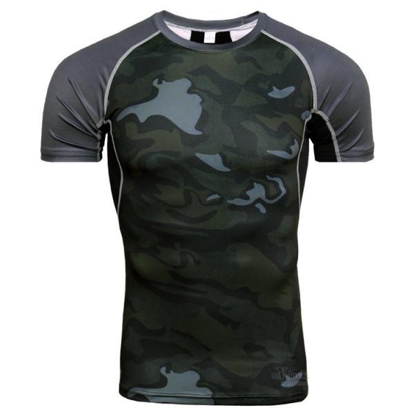 コンプレッションウェア メンズ アンダーシャツ 加圧シャツ 半袖 フィットネスウェア Tシャツ トレーニング レーシングシャツ 吸汗速乾 otasukemann 03