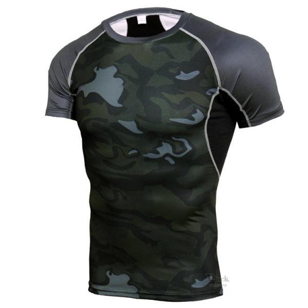 コンプレッションウェア メンズ アンダーシャツ 加圧シャツ 半袖 フィットネスウェア Tシャツ トレーニング レーシングシャツ 吸汗速乾 otasukemann 04