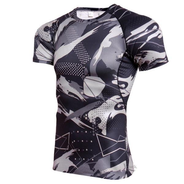 コンプレッションウェア メンズ アンダーシャツ 加圧シャツ 半袖 フィットネスウェア Tシャツ トレーニング レーシングシャツ 吸汗速乾 otasukemann 07