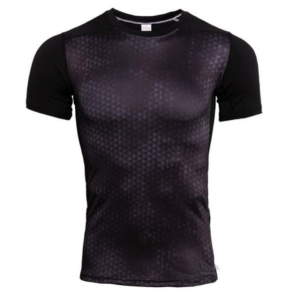 コンプレッションウェア メンズ アンダーシャツ 加圧シャツ 半袖 フィットネスウェア Tシャツ トレーニング レーシングシャツ 吸汗速乾 otasukemann 09
