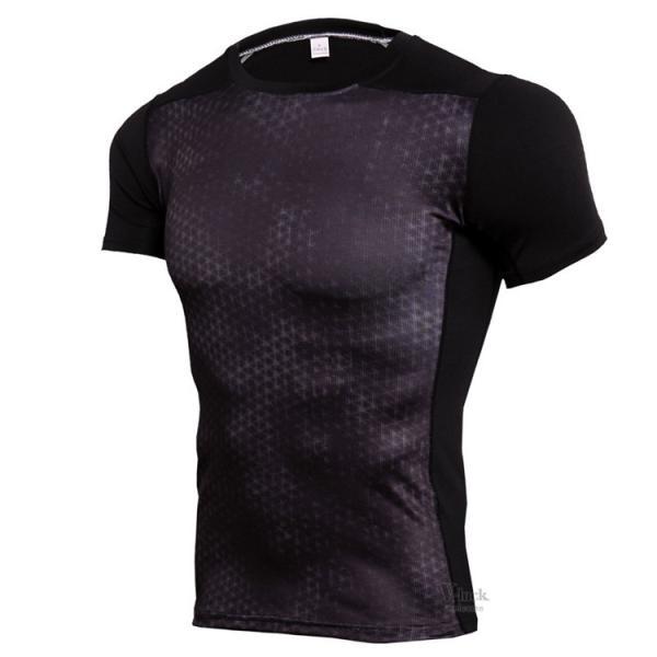コンプレッションウェア メンズ アンダーシャツ 加圧シャツ 半袖 フィットネスウェア Tシャツ トレーニング レーシングシャツ 吸汗速乾 otasukemann 10