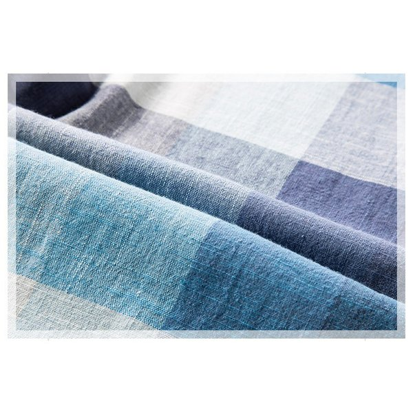リネンシャツ メンズ 半袖シャツ 無地 綿 麻 チェック柄 新作 カジュアルシャツ 半袖 涼しい お兄系 夏 サマー|otasukemann|13