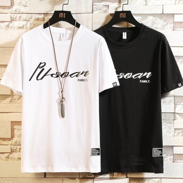 夏服 Tシャツ メンズ 半袖Tシャツ プリント カジュアル ルームウェア 部屋着 お兄系 ティーシャツ おしゃれ|otasukemann