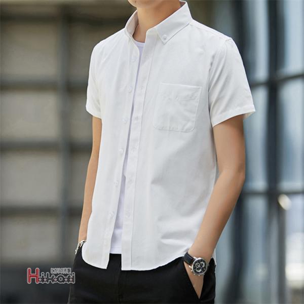 半袖シャツ メンズ ワイシャツ カジュアルシャツ 開襟シャツ 40代 50代 部屋着 無地シャツ 夏服 細身 お兄系 シャツ 夏|otasukemann|05