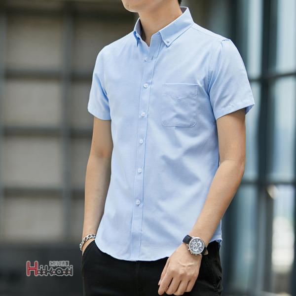 半袖シャツ メンズ ワイシャツ カジュアルシャツ 開襟シャツ 40代 50代 部屋着 無地シャツ 夏服 細身 お兄系 シャツ 夏|otasukemann|08