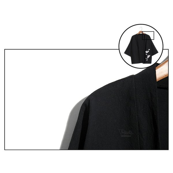 甚平 メンズ 綿麻 上下セット 羽織 着物 浴衣 カーディガン 七分袖 和式 薄手 コーディガン サマー ゆったり 大きいサイズ 夏物 otasukemann 20