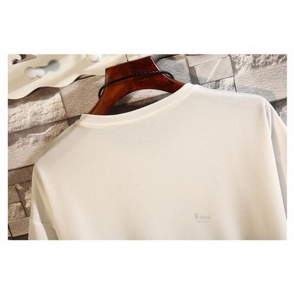 メンズTシャツ 半袖 カジュアル カットソー クルーネック 大きいサイズ T-shirt 半袖Tシャツ サマー お兄系 部屋着 夏物 送料無料|otasukemann|11