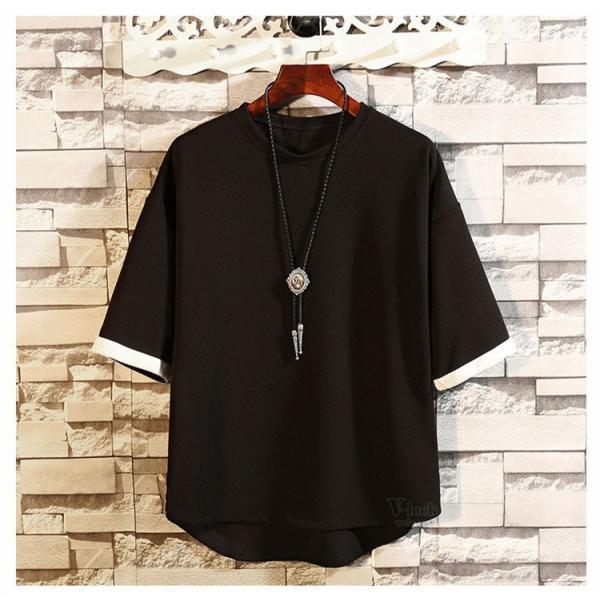 メンズTシャツ 半袖 カジュアル カットソー クルーネック 大きいサイズ T-shirt 半袖Tシャツ サマー お兄系 部屋着 夏物 送料無料|otasukemann|07