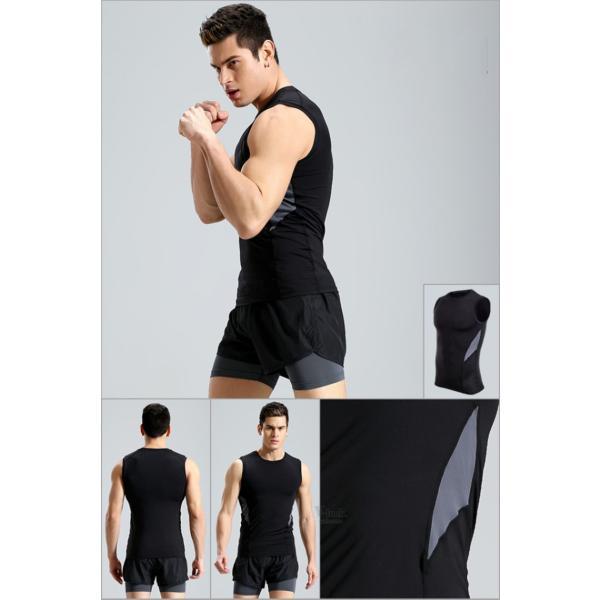 加圧シャツ コンプレッションウェア メンズ アンダーシャツ タンクトップ 加圧インナー 半袖Tシャツ ノースリーブ おしゃれ 吸汗速乾 夏 otasukemann 05