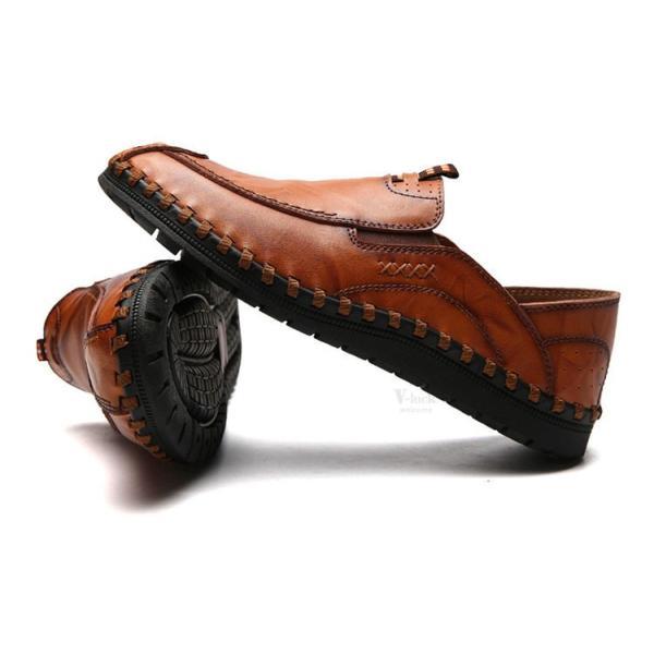 ローファーシューズ メンズ 紳士靴 スリッポン モカシン コンフォートシューズ 靴 リラックス オシャレ ドライビングシューズ リゾート 春夏|otasukemann|13