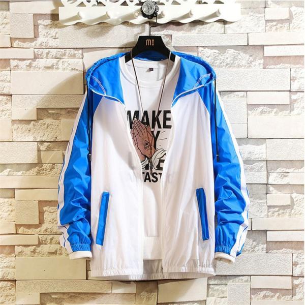 ジャケット メンズ UVカットパーカー マウンテンパーカー 薄手ジャケット ウィンドブレーカー アウトドア おしゃれ otasukemann 04