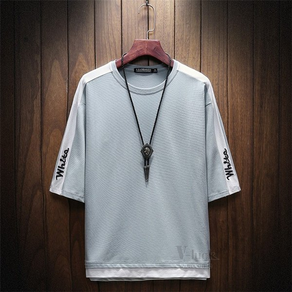 Tシャツ メンズ 五分袖 ティーシャツ 半袖Tシャツ カットソー クルーネック きれいめ インナー 無地 夏 otasukemann 04