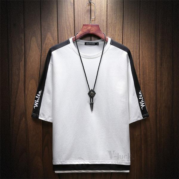 Tシャツ メンズ 五分袖 ティーシャツ 半袖Tシャツ カットソー クルーネック きれいめ インナー 無地 夏 otasukemann 05