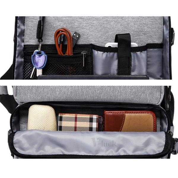 ビジネスリュック メンズ ショルダーバッグ リュックサック 3way バックパック デイパック キャリーケース 大容量|otasukemann|19