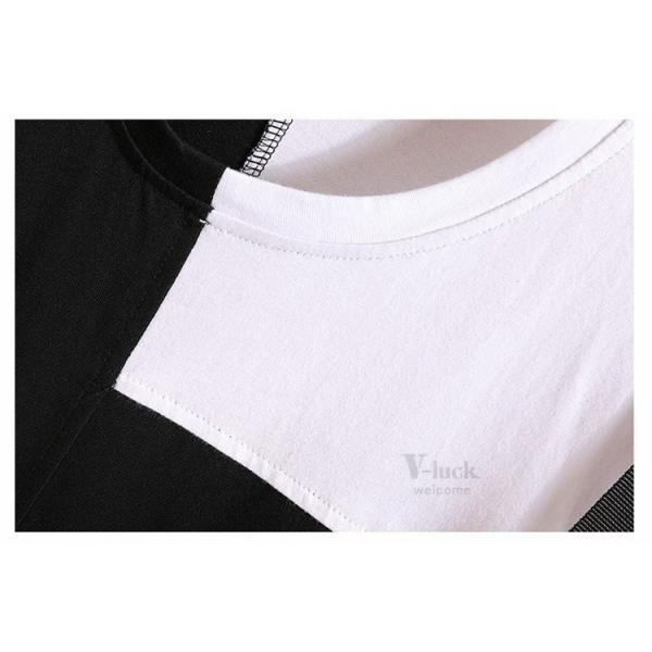 Tシャツ メンズ 半袖 トップス 切り替え カットソー ティーシャツ 半袖Tシャツ カジュアル おしゃれ 夏新作|otasukemann|09