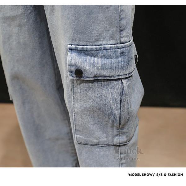 クロップドパンツ メンズ カーゴパンツ ジーンズ デニムパンツ 無地 ストレッチ ジーパン おしゃれ 送料無料|otasukemann|15