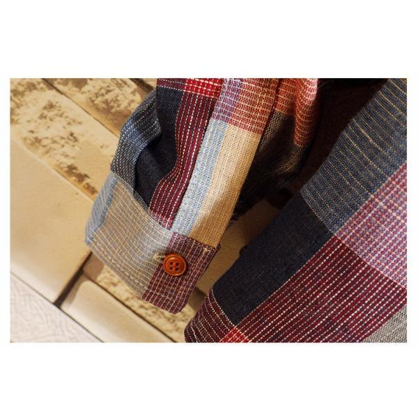 カジュアルシャツ メンズ チェックシャツ 長袖シャツ ビジネス 通勤 スリム メンズファッション 開襟 春秋 otasukemann 12