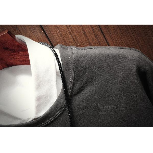 トレーナー メンズ トップス 長袖 Tシャツ ルームウェア フェイクレイヤード クルーネック スウェット 秋服 春物|otasukemann|11