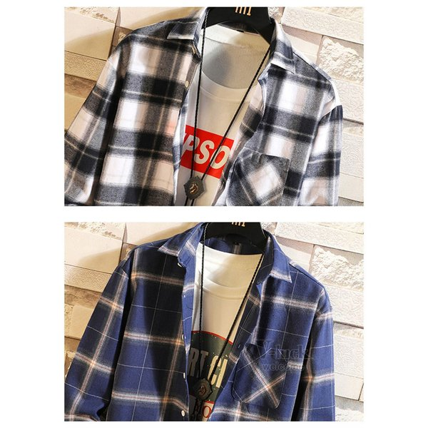 チェックシャツ 長袖シャツ メンズ カジュアルシャツ 開襟シャツ ワイシャツ ネルシャツ 40代 50代 部屋着 秋物 お兄系|otasukemann|18