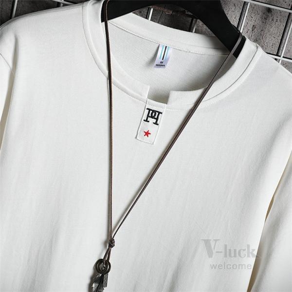 Tシャツ メンズ 長袖 ロングTシャツ カジュアル トップス ティーシャツ スリム 長袖Tシャツ 薄手 紳士 春秋|otasukemann|12