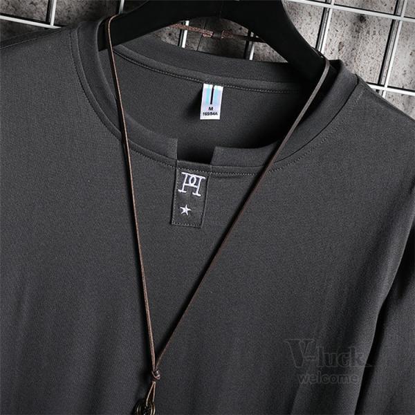 Tシャツ メンズ 長袖 ロングTシャツ カジュアル トップス ティーシャツ スリム 長袖Tシャツ 薄手 紳士 春秋|otasukemann|14