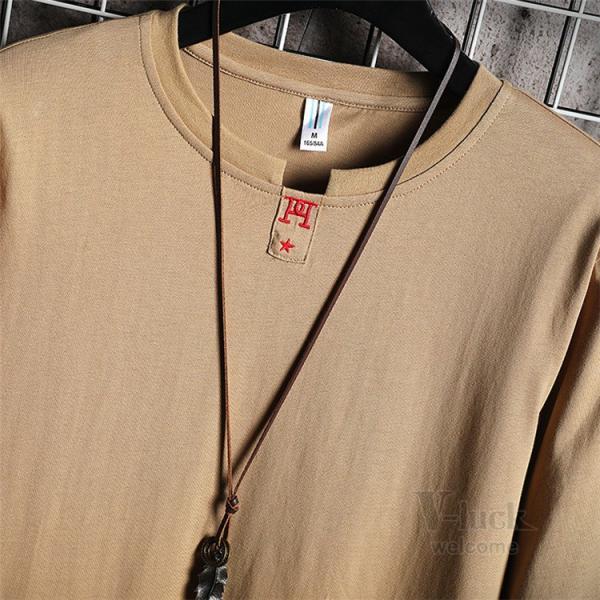 Tシャツ メンズ 長袖 ロングTシャツ カジュアル トップス ティーシャツ スリム 長袖Tシャツ 薄手 紳士 春秋|otasukemann|15
