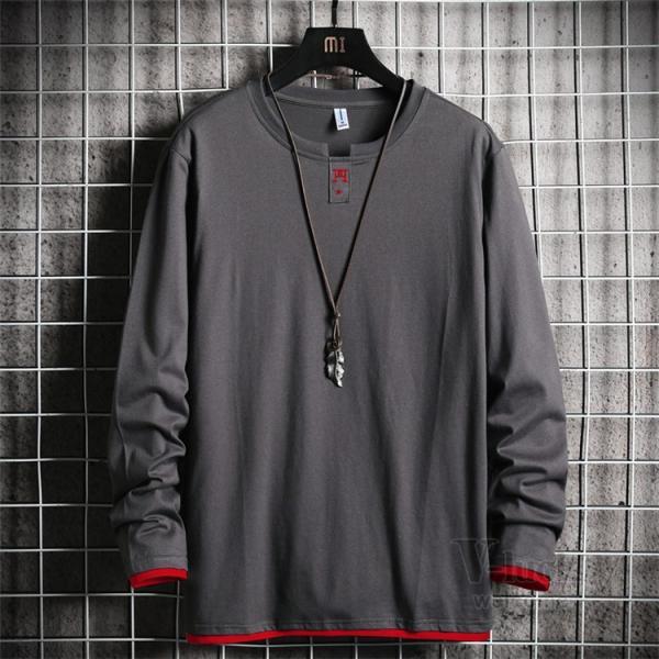 Tシャツ メンズ 長袖 ロングTシャツ カジュアル トップス ティーシャツ スリム 長袖Tシャツ 薄手 紳士 春秋|otasukemann|05
