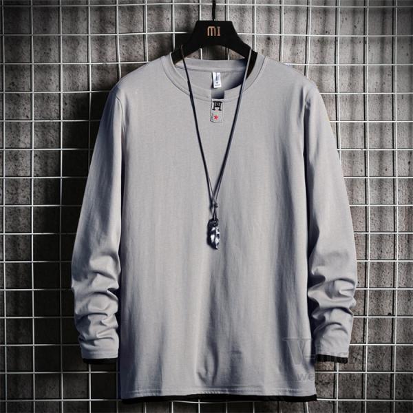 Tシャツ メンズ 長袖 ロングTシャツ カジュアル トップス ティーシャツ スリム 長袖Tシャツ 薄手 紳士 春秋|otasukemann|06