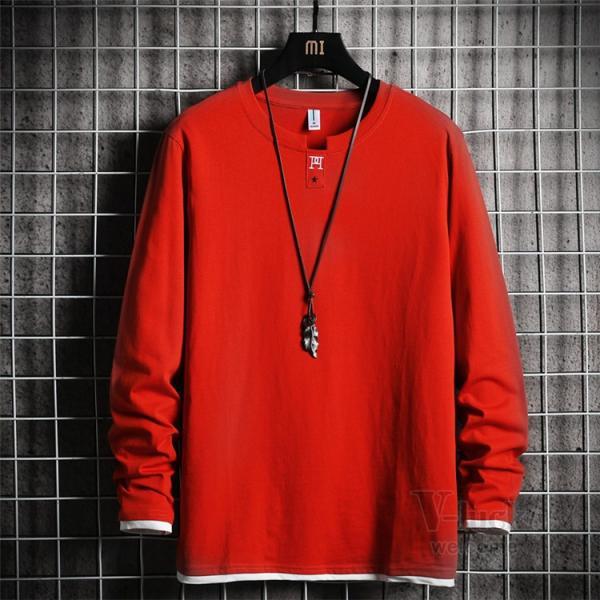 Tシャツ メンズ 長袖 ロングTシャツ カジュアル トップス ティーシャツ スリム 長袖Tシャツ 薄手 紳士 春秋|otasukemann|08
