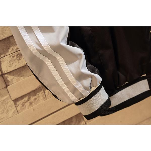 スタジャン メンズ スタジアムジャンパー フライトジャケット MA-1 ストリート系 切り替え アウター 秋物|otasukemann|14