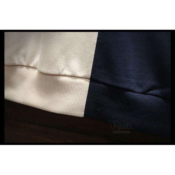 パーカー メンズ プルオーバーパーカー 長袖 スポーツ フード付き スウェット 切り替え カジュアル おしゃれ 秋服|otasukemann|11