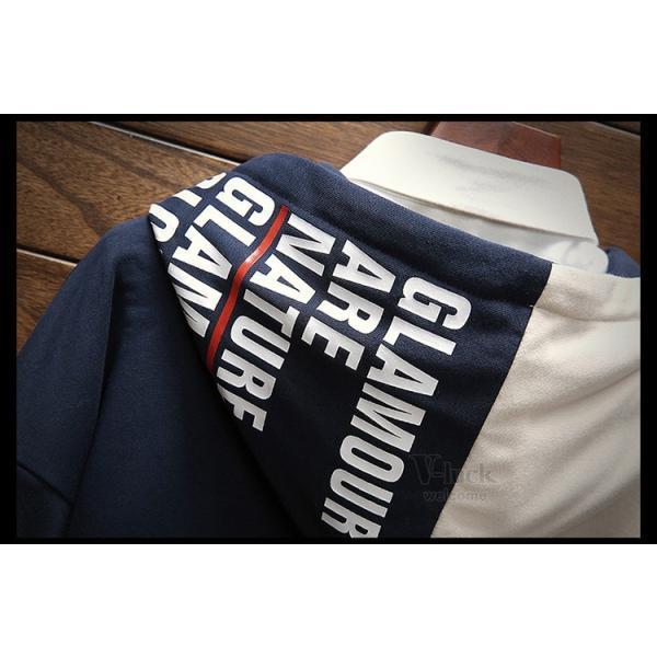 パーカー メンズ プルオーバーパーカー 長袖 スポーツ フード付き スウェット 切り替え カジュアル おしゃれ 秋服|otasukemann|13