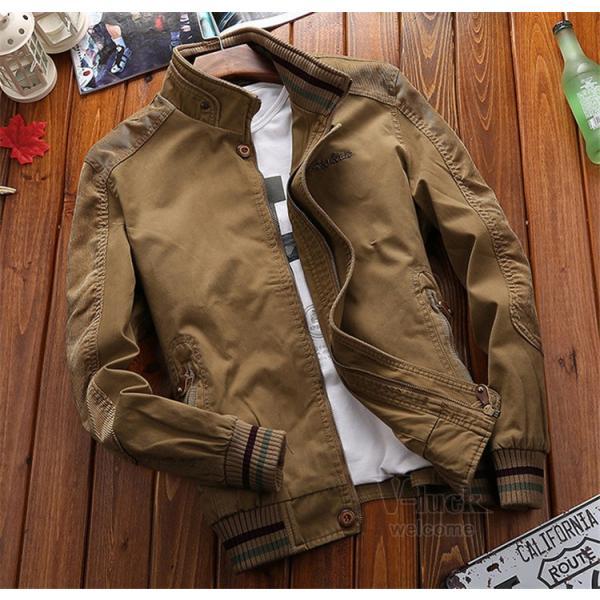 ミリタリージャケット メンズ フライトジャケット ジャンパー ファッション スイングトップ お兄系 アウター 欧米風|otasukemann|05