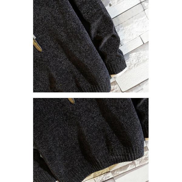 ニットセーター メンズ ニット 長袖 セーター プルオーバー トップス クルーネック カジュアル お兄系 秋冬|otasukemann|10