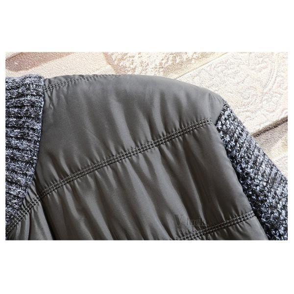 中綿ジャケット メンズ ジャケット アウター ダウン風 ブルゾン 切り替え 立ち襟 裏起毛 秋冬 送料無料|otasukemann|14