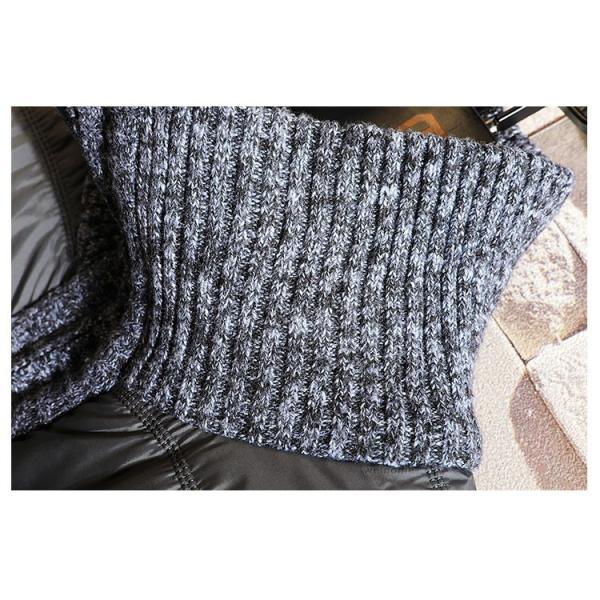 中綿ジャケット メンズ ジャケット アウター ダウン風 ブルゾン 切り替え 立ち襟 裏起毛 秋冬 送料無料|otasukemann|15