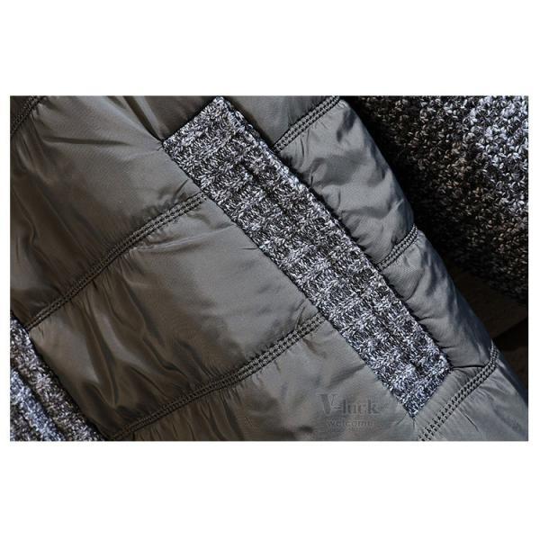 中綿ジャケット メンズ ジャケット アウター ダウン風 ブルゾン 切り替え 立ち襟 裏起毛 秋冬 送料無料|otasukemann|17