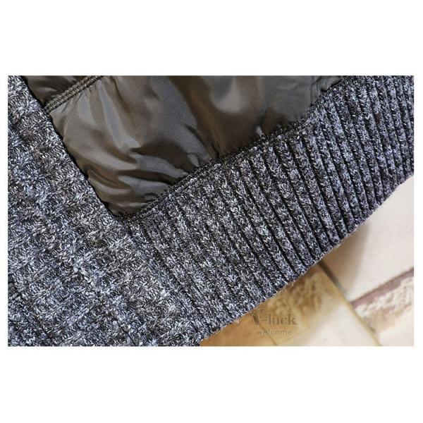 中綿ジャケット メンズ ジャケット アウター ダウン風 ブルゾン 切り替え 立ち襟 裏起毛 秋冬 送料無料|otasukemann|18