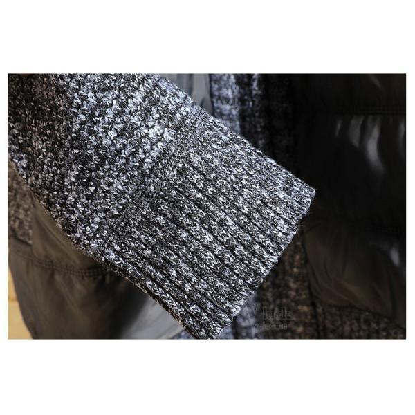 中綿ジャケット メンズ ジャケット アウター ダウン風 ブルゾン 切り替え 立ち襟 裏起毛 秋冬 送料無料|otasukemann|19