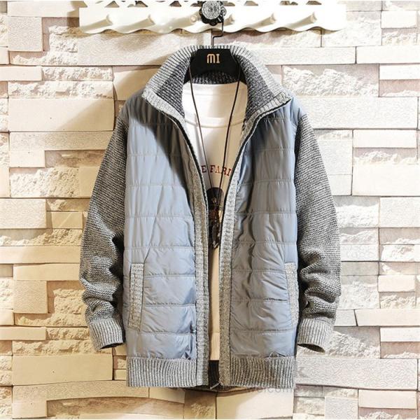 中綿ジャケット メンズ ジャケット アウター ダウン風 ブルゾン 切り替え 立ち襟 裏起毛 秋冬 送料無料|otasukemann|10