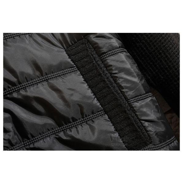 ジャケット メンズ 中綿ジャケット ニットセーター ダウン風 立ち襟 ブルゾン 裏起毛 アウトドア 秋冬 防寒着 otasukemann 17
