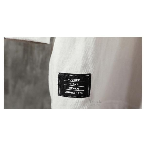 Tシャツ メンズ 長袖 おしゃれ ストリート系 ティーシャツ カジュアル 切り替え ファッション お兄系 春秋|otasukemann|11