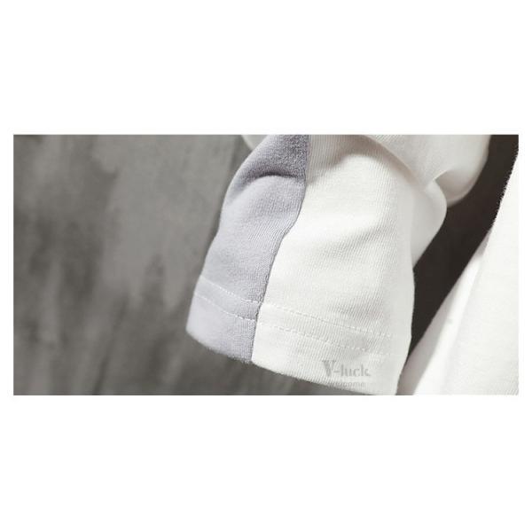Tシャツ メンズ 長袖 おしゃれ ストリート系 ティーシャツ カジュアル 切り替え ファッション お兄系 春秋|otasukemann|10