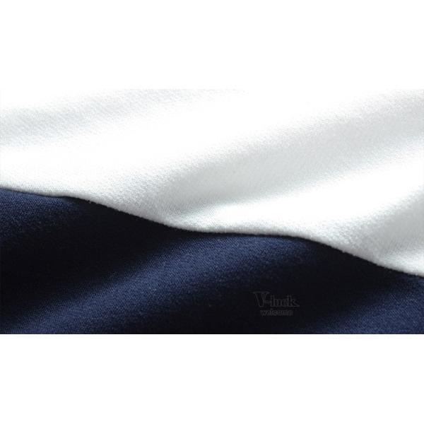 Tシャツ メンズ 長袖 ロンT カジュアル クルーネック ロングTシャツ 切り替え ストレッチ トップス 薄手 春秋|otasukemann|14