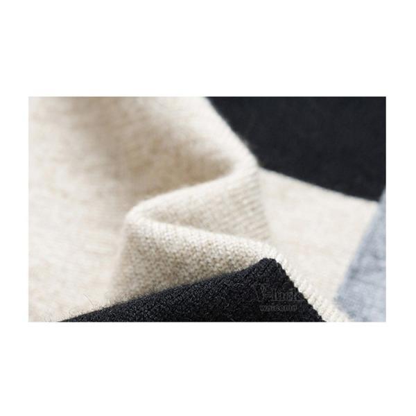 メンズニット セーター クルーネック 切り替え 長袖セーター ケーブル ニットセーター お兄系 秋物 冬物 春物|otasukemann|12